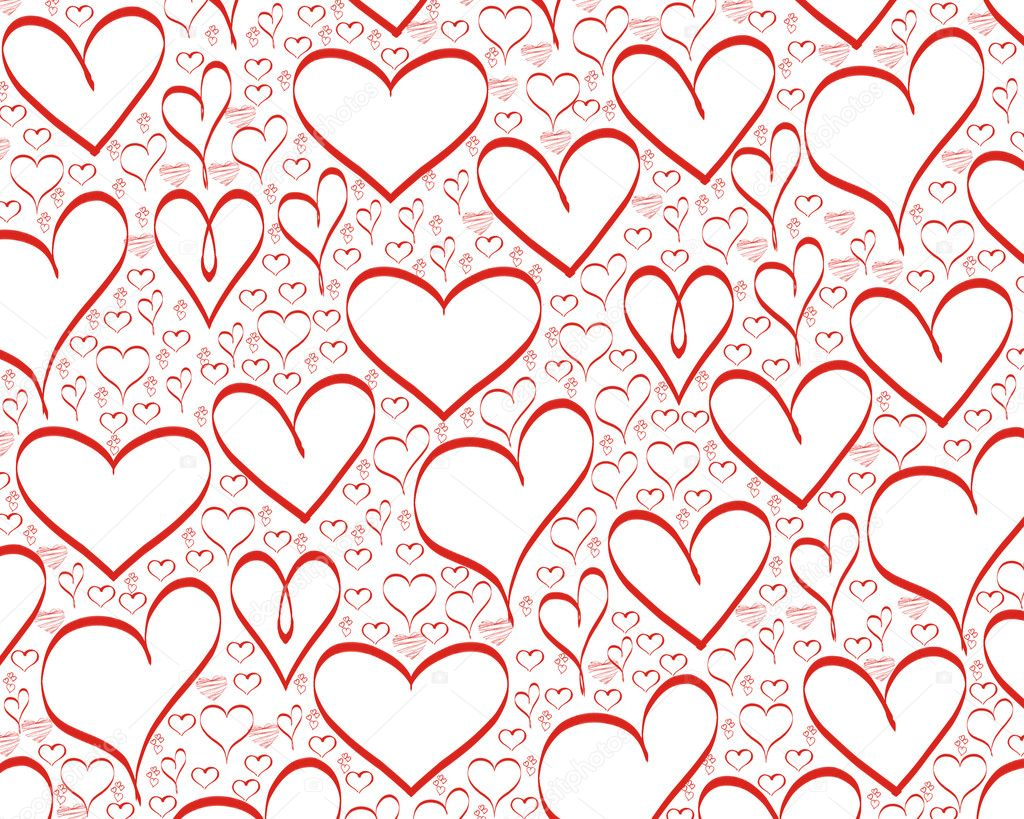Red hearts background for valentines day  Foto Stock #1574339