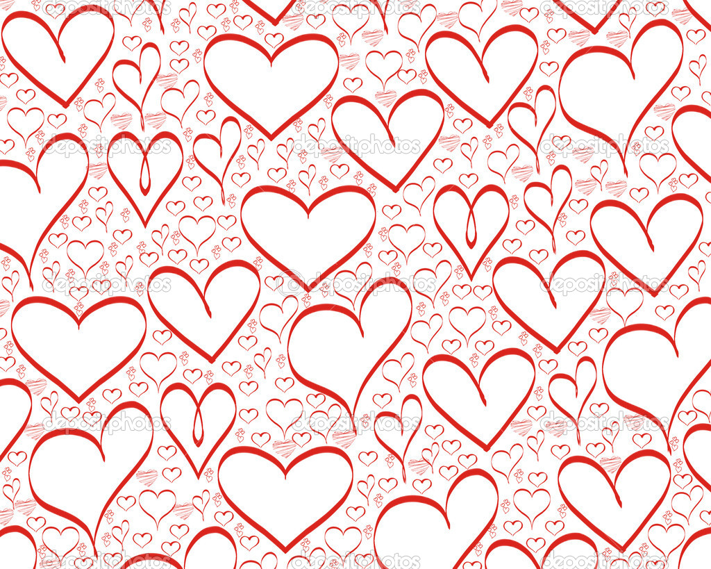 Red hearts background for valentines day  Photo #1574339