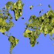 World green map — Stock Photo