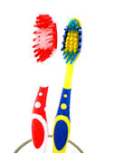 Toothbrushes isolated on white background — Stock Photo