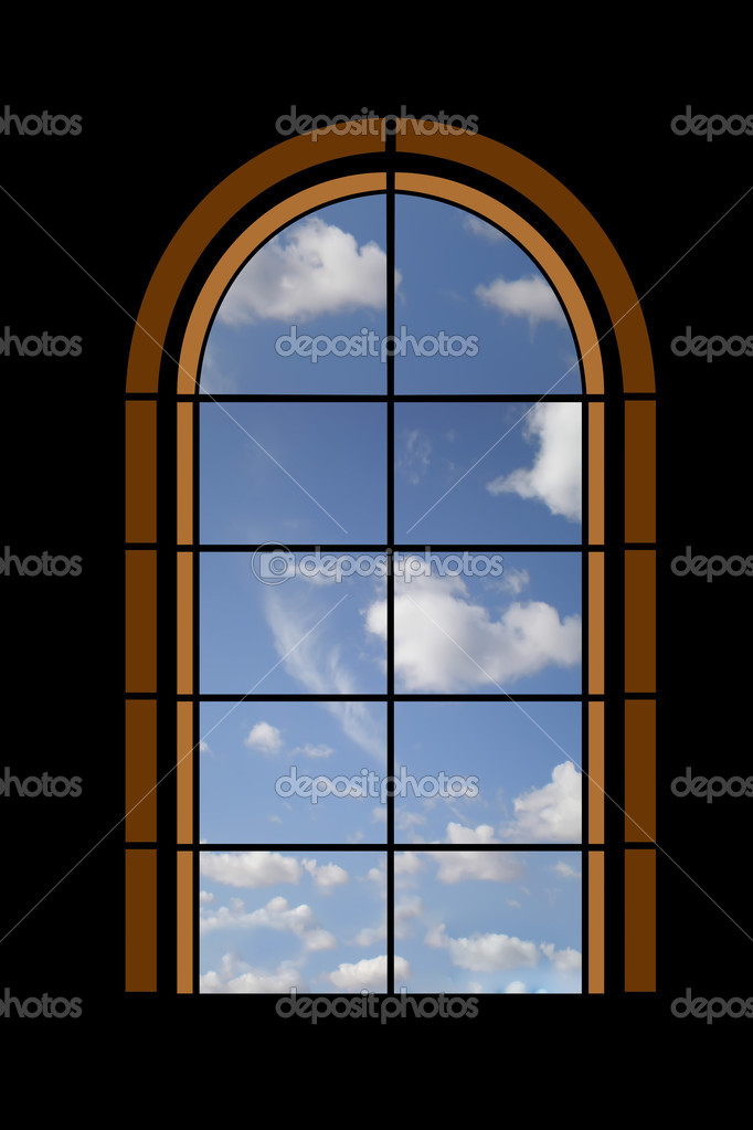 Positive look through a window — Stock Photo #1581266