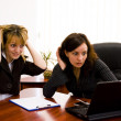 Surprised businesswomen — Stock Photo