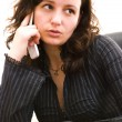 Businesswoman talking — Stock Photo