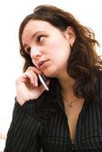 Businesswoman talking — Stock Photo