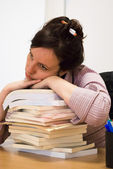 Bored studying — Stock Photo