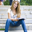 Beautiful young woman reading book — Stock Photo #2046530