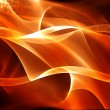 Royalty-Free Stock Photo: Abstract warm fractal background