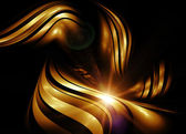 Abstract gold fractal background — Stock Photo