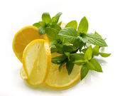 Lemons with the spearmint — Stock Photo