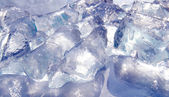 Fresh colored blue ice — Stock Photo