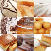 Sweets collage - high definition photo — Stock Photo