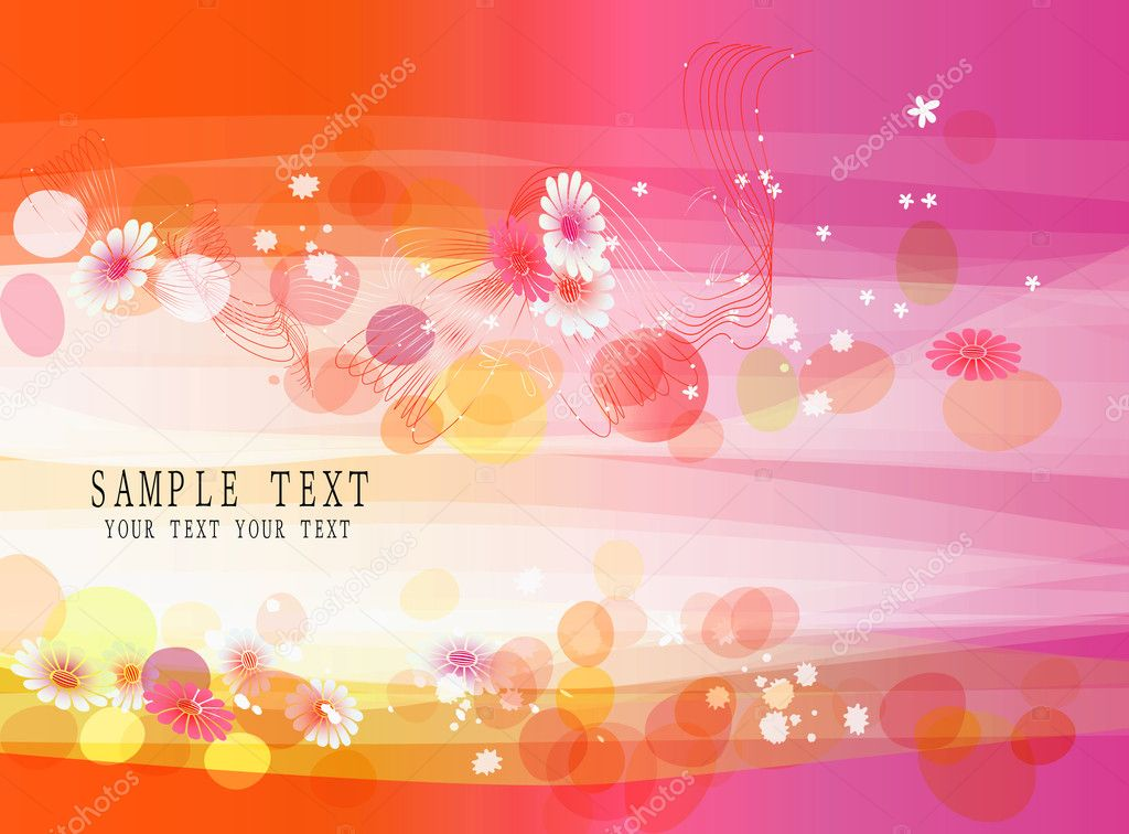 Abstract colorful (flower banner) background for your business artwork  — Stock Vector #2403488