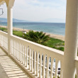 Balcony with view for the ocean - Stock Photo