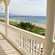 Balcony with view for the ocean — Stock Photo