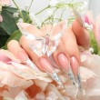 Stock Photo: Manicured acrylic nails