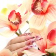 Manicured acrylic nails — Stock Photo #2683472