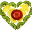 Stock Photo: Heart of fruits