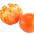 Stock Photo: Mandarins peeled