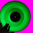 Stock Photo: Green Acetate LP