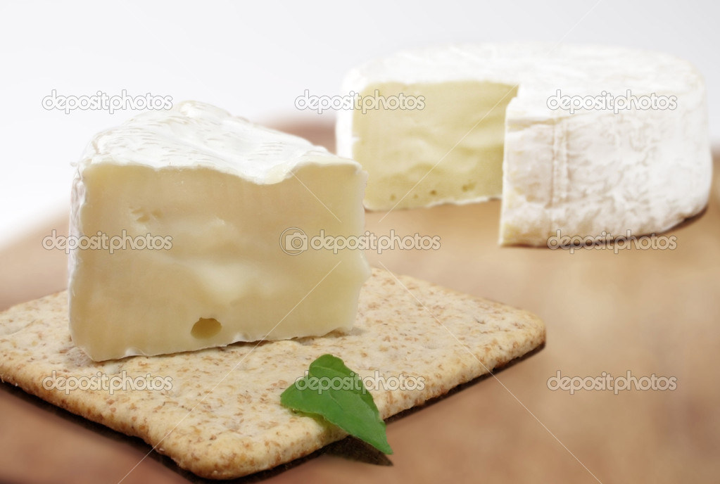 Brie cheese and cracker  — Stock Photo #1694865