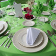 Stock Photo: Wedding table set