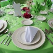 Wedding table set — Stock Photo