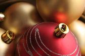 Sfondo realizzato da ornamenti di Natale — Foto Stock