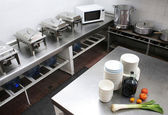 Restaurant Kitchen — Stock Photo