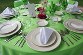 Wedding table set — Stock Photo