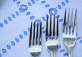 Three forks — Stock Photo