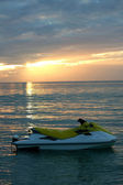 Sun-set jetski — Stock Photo