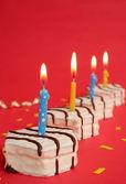 Fila de tortas — Foto de Stock