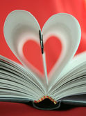 In love with literature — Stock Photo