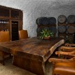 Wine cellar dinning space — Stock Photo