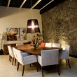 Stock Photo: Night scene of dining room