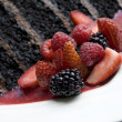 Chocolate Cake extreme close up — Foto Stock