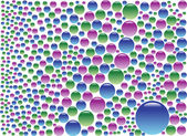 Colored Bubbles — Stock Vector