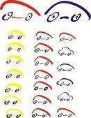 Colored car symbol — Stock Photo