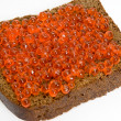 Bread with red caviar — Stock Photo #1629571