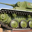 Monument to tank T-70 — Stock Photo