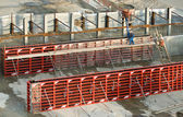 Concreting of walls — Stock Photo