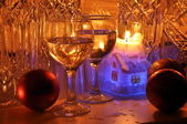 Knippen-glas, decoratie, kaars. — Stockfoto
