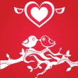 Love greetings card - Imagen vectorial