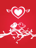 Love greetings card — Stock Vector