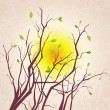 Royalty-Free Stock Векторное изображение: Vector tree branches grungy background