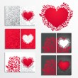 Valentines day greeting cards — Stock Vector