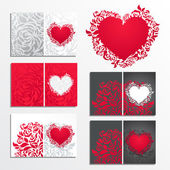Valentines day greeting cards — Vetor de Stock