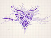Hand-drawn artistic heart doodle — Stock Vector