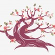 Cherry blossom tree — Stock Vector