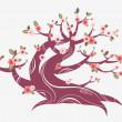 Cherry blossom tree — Stock Vector